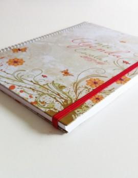 Agenda flor vintage1