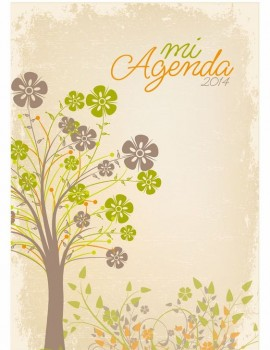 agenda arbol vintage