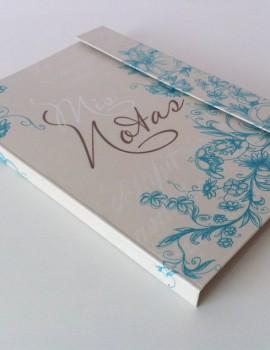 Cuaderno floral turquesa3