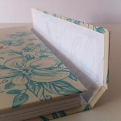 Cuaderno floral turquesa6