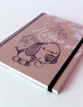 Cuaderno perro vintage1
