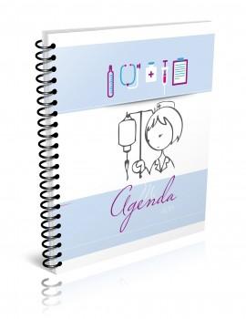 Agenda enfermera Estela azul