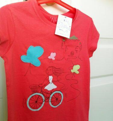 Camiseta niña bici1