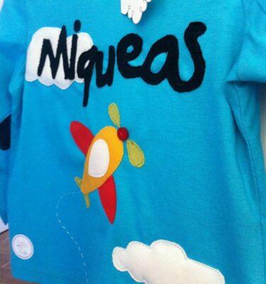 Camiseta niño nombre avion3