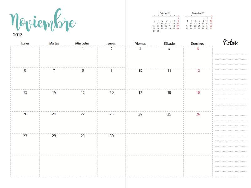 Calendario Mes Vista
